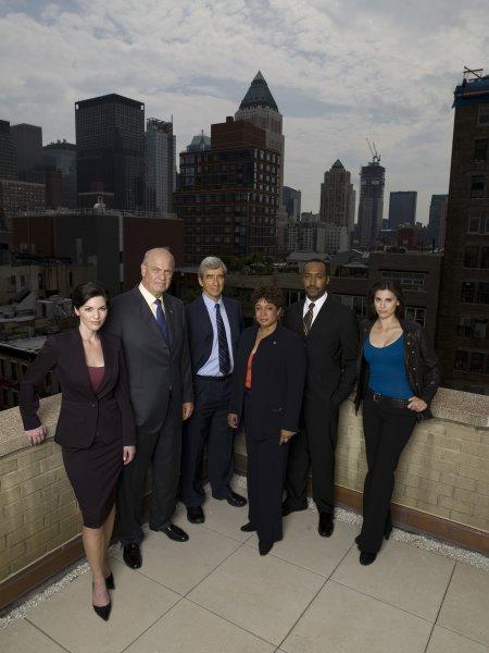 Law & Order : Foto Alana De La Garza, Fred Dalton Thompson, Jesse L. Martin, Milena Govich, S. Epatha Merkerson