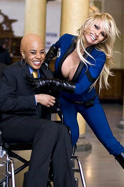 Super-Herói - O Filme : Foto Craig Mazin, Pamela Anderson