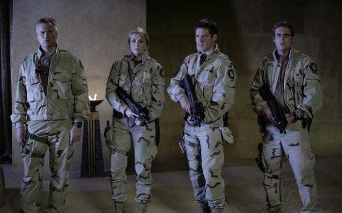 Stargate SG-1 : Foto Amanda Tapping, Ben Browder, Michael Shanks (I), Richard Dean Anderson