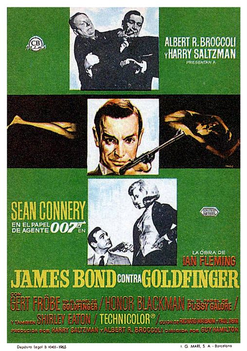 007 Contra Goldfinger : Poster
