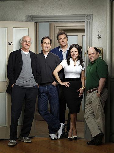 Curb Your Enthusiasm : Foto Jason Alexander, Jerry Seinfeld, Julia Louis-Dreyfus, Larry David, Michael Richards