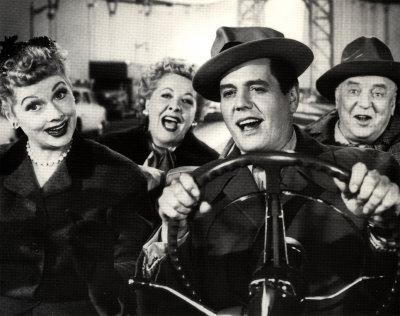 I Love Lucy : Foto Desi Arnaz, Lucille Ball, Vivian Vance, William Frawley