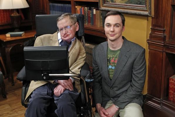 Foto Jim Parsons, Stephen Hawking