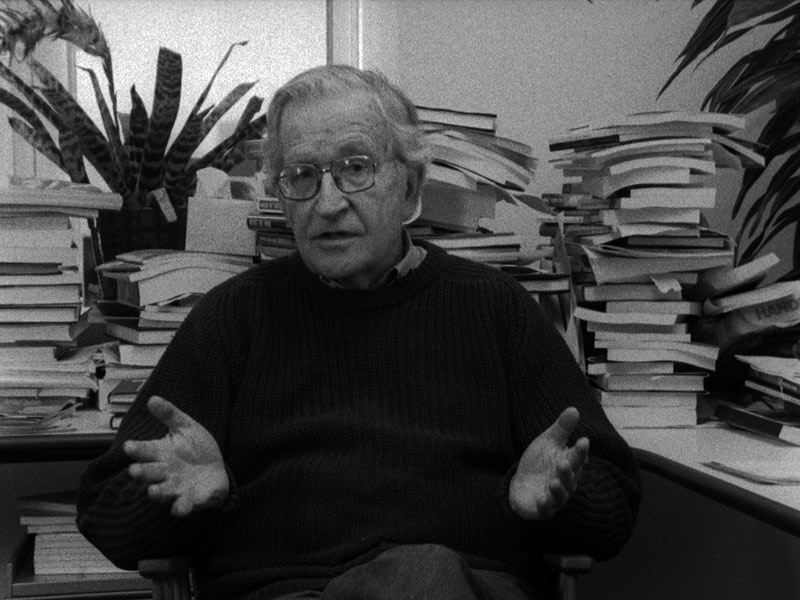 L'Encerclement : Foto Noam Chomsky, Richard Brouillette