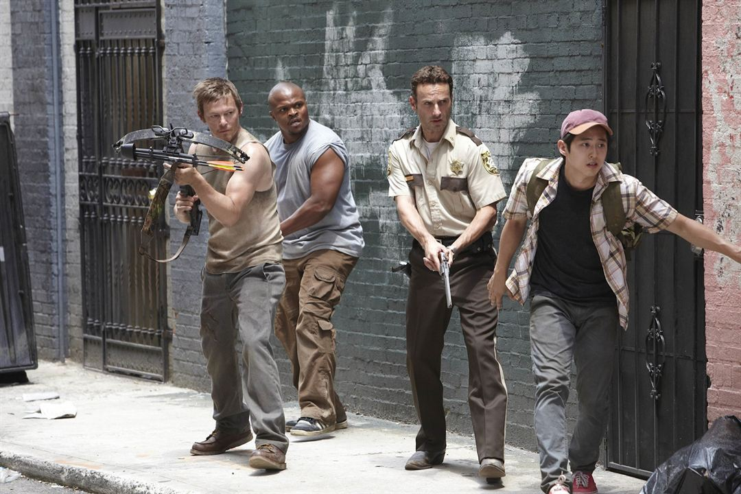The Walking Dead : Foto Andrew Lincoln, IronE Singleton, Norman Reedus, Steven Yeun
