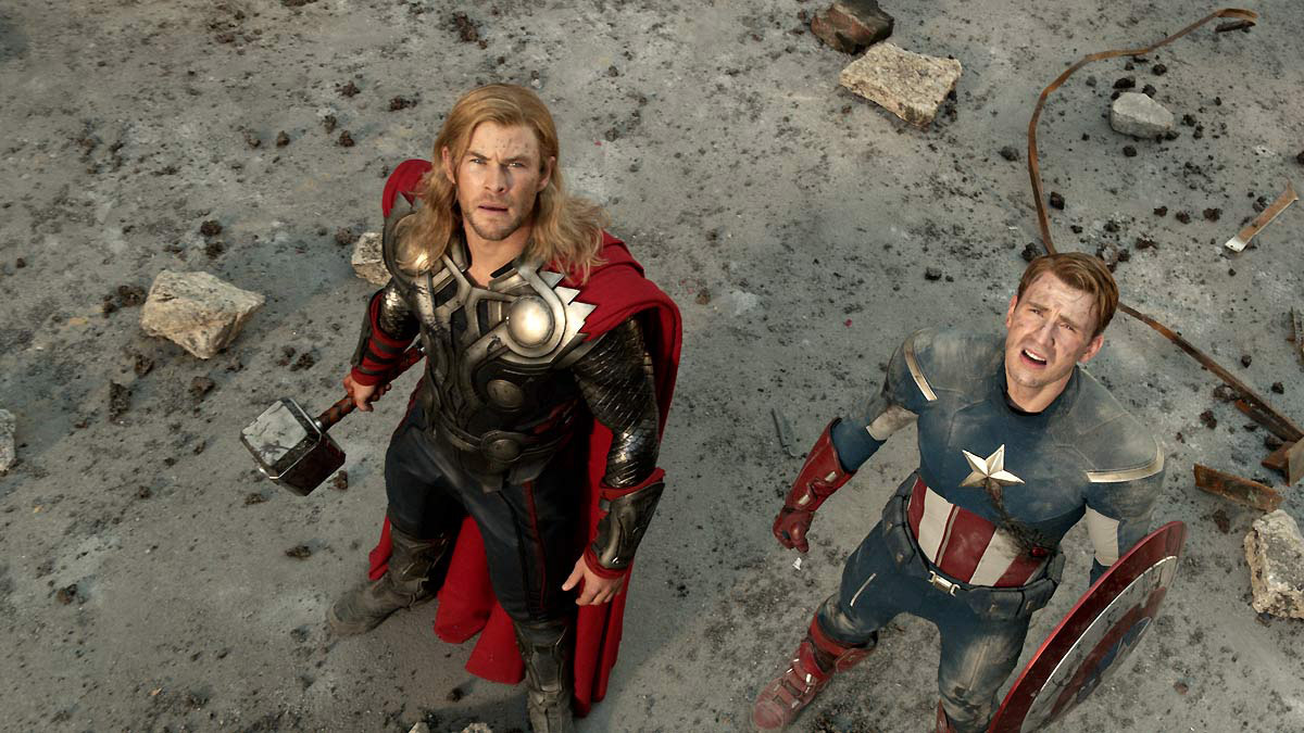 Os Vingadores - The Avengers : Foto Chris Evans, Chris Hemsworth
