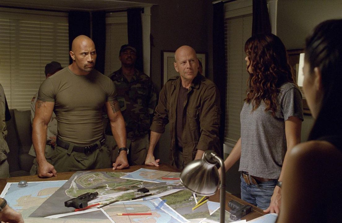 G.I. Joe - Retaliação : Foto Adrianne Palicki, Bruce Willis, Dwayne Johnson