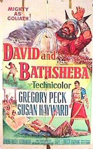 David e Betsabá : Poster