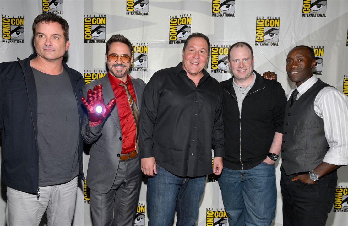 Homem de Ferro 3 : Vignette (magazine) Don Cheadle, Jon Favreau, Kevin Feige, Robert Downey Jr., Shane Black