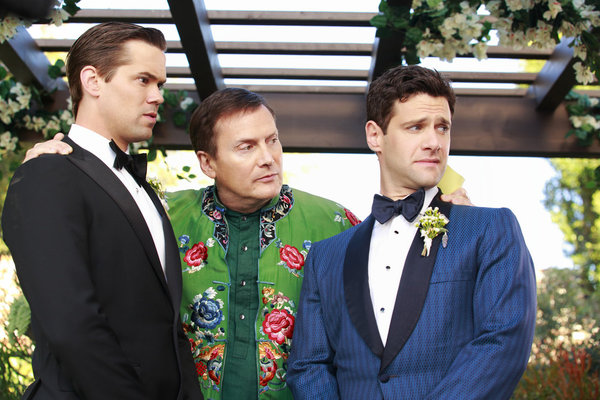 Foto Andrew Rannells, Justin Bartha, Michael Hitchcock