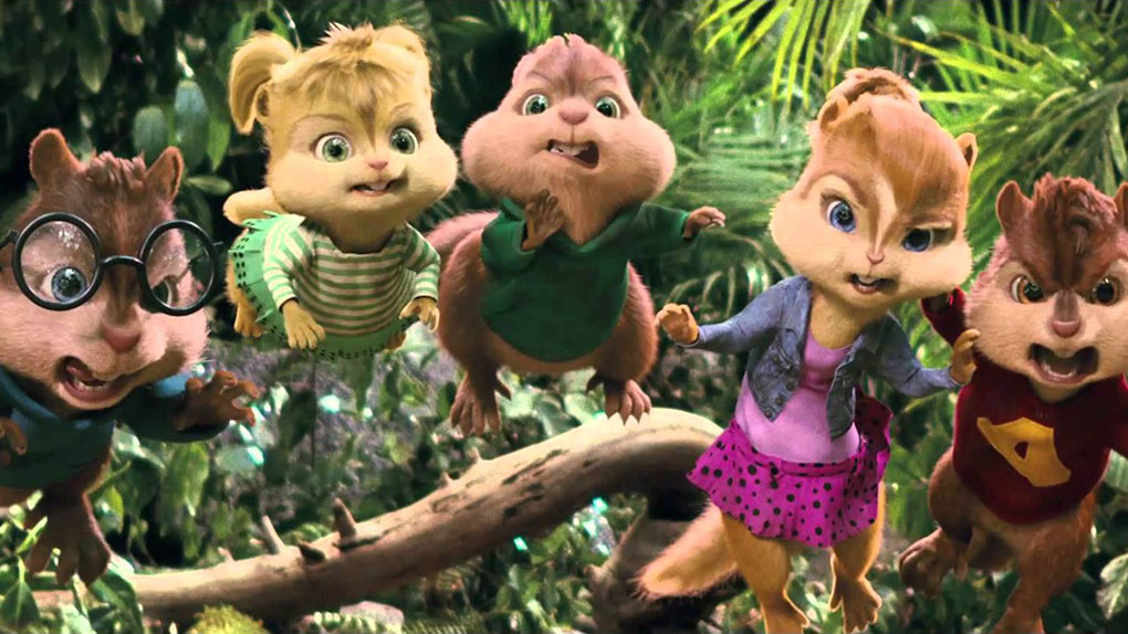 Alvin e Os Esquilos 3 (15h05 - Globo)