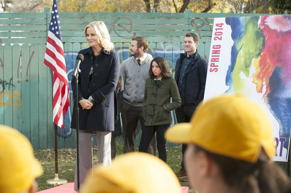 Foto Amy Poehler, Aubrey Plaza, Billy Eichner, Chris Pratt