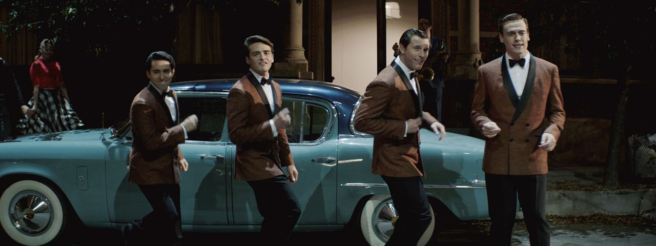 Jersey Boys: Em Busca da Música : Foto Erich Bergen, John Lloyd Young, Michael Lomenda, Vincent Piazza