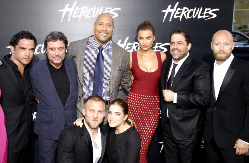 Hércules : Vignette (magazine) Aksel Hennie, Brett Ratner, Dwayne Johnson, Ian McShane, Irina Shayk