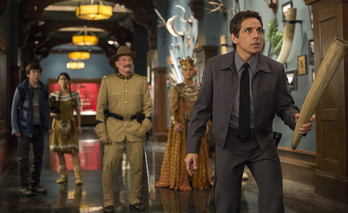 Uma Noite no Museu 3 - O Segredo da Tumba : Foto Ben Stiller, Rami Malek, Robin Williams, Skyler Gisondo