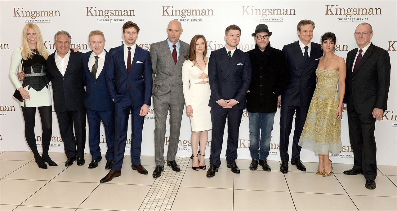 Kingsman - Serviço Secreto : Vignette (magazine) Claudia Schiffer, Colin Firth, Mark Strong, Matthew Vaughn, Sofia Boutella