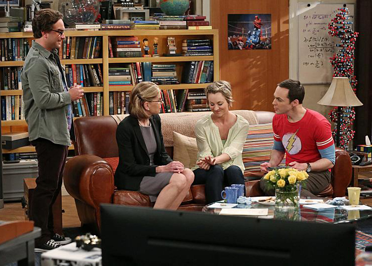 Foto Christine Baranski, Johnny Galecki, Kaley Cuoco, Laurie Metcalf