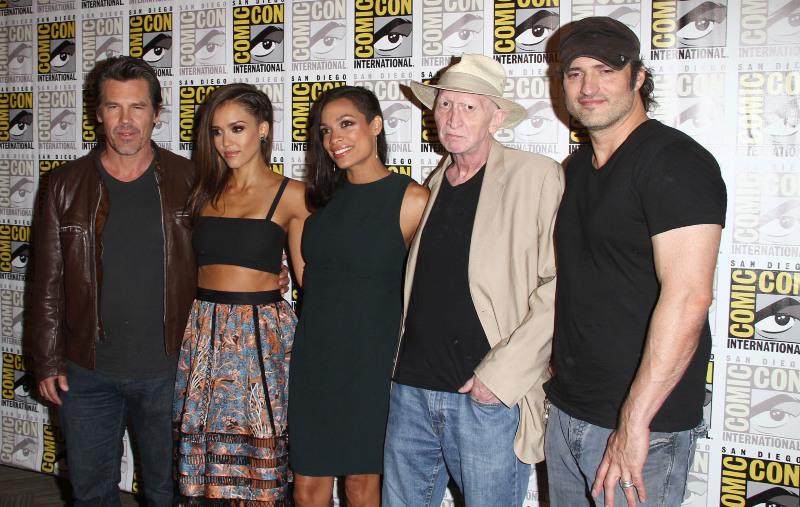 Sin City: A Dama Fatal : Vignette (magazine) Frank Miller, Jessica Alba, Josh Brolin, Robert Rodriguez, Rosario Dawson