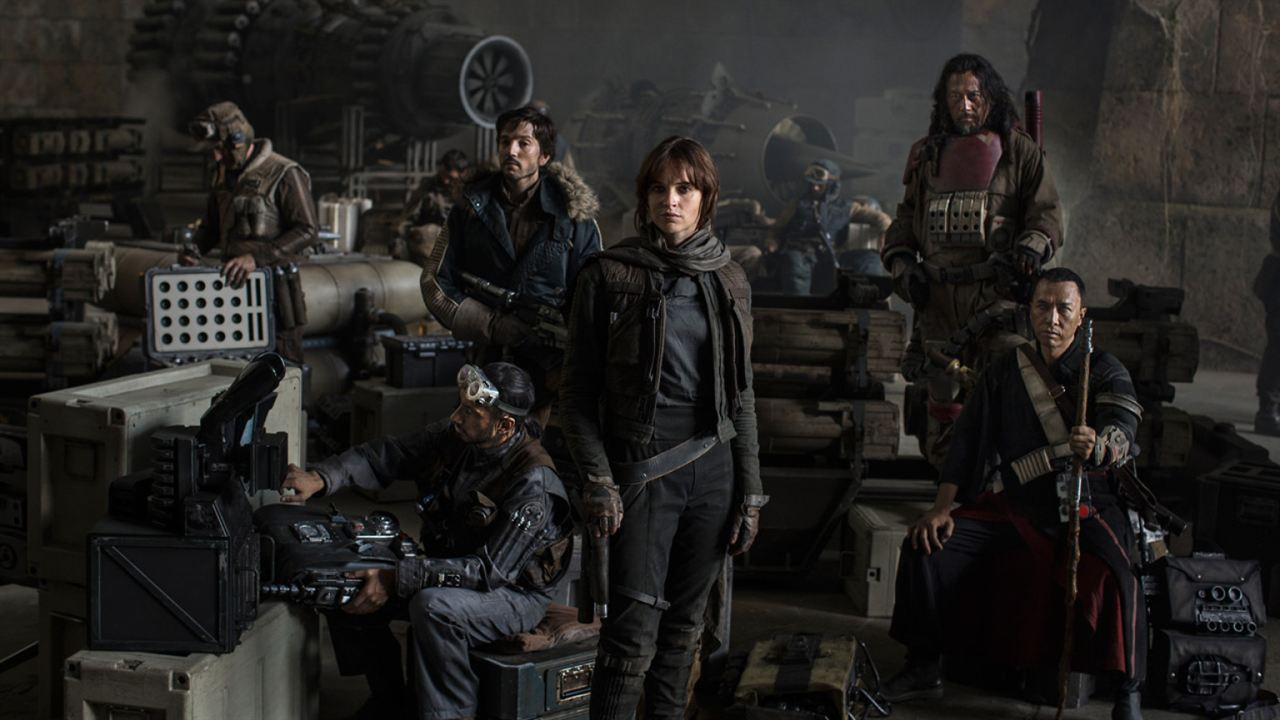 Rogue One - Uma História Star Wars : Foto Diego Luna, Donnie Yen, Felicity Jones, Jiang Wen, Riz Ahmed
