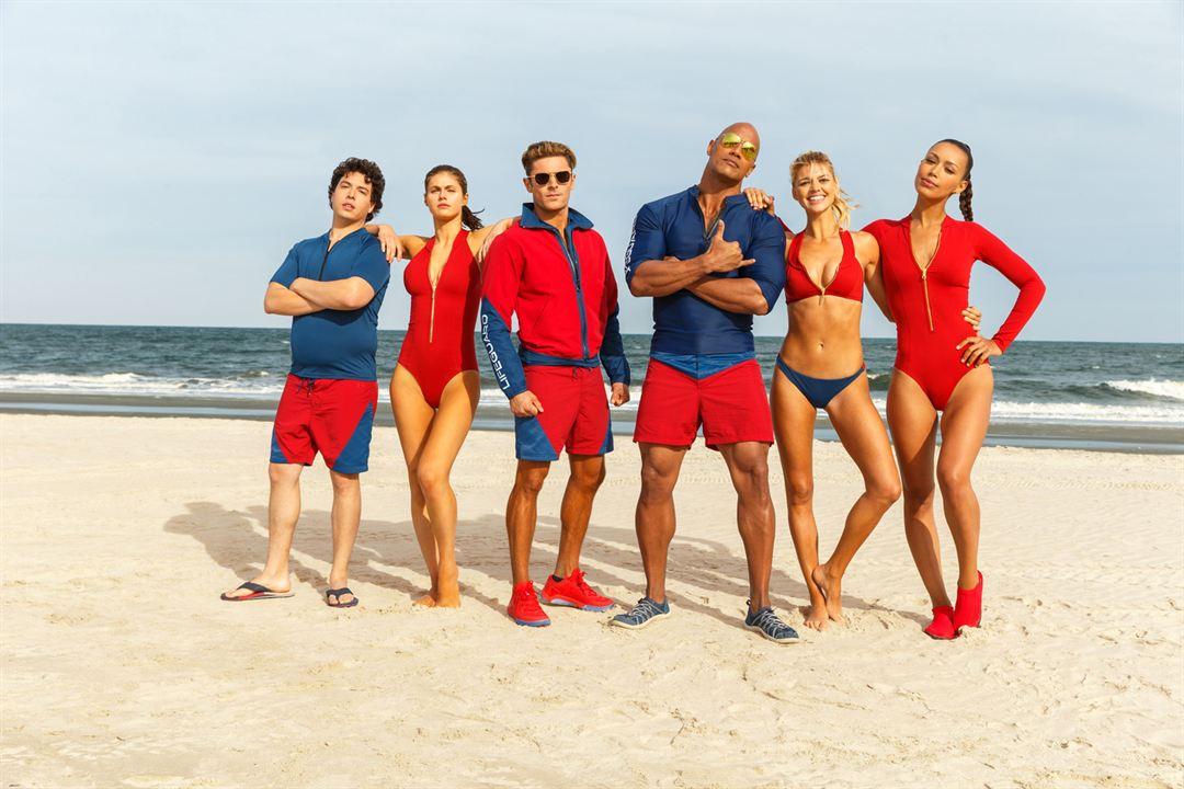 Baywatch : Foto Alexandra Daddario, Dwayne Johnson, Ilfenesh Hadera, Jon Bass, Kelly Rohrbach