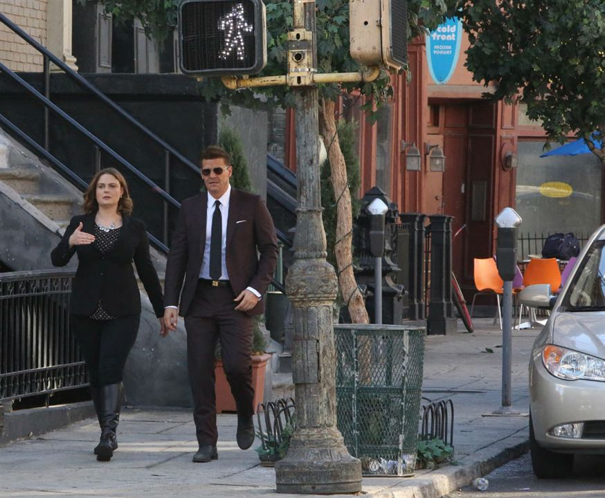 Foto David Boreanaz, Emily Deschanel