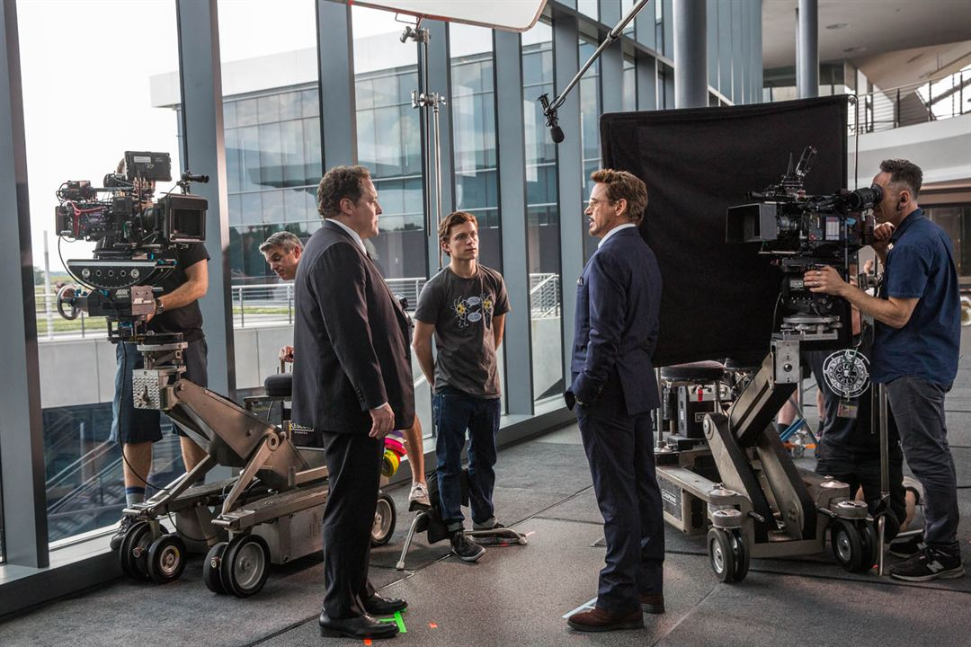 Homem-Aranha: De Volta ao Lar : Foto Jon Favreau, Robert Downey Jr., Tom Holland