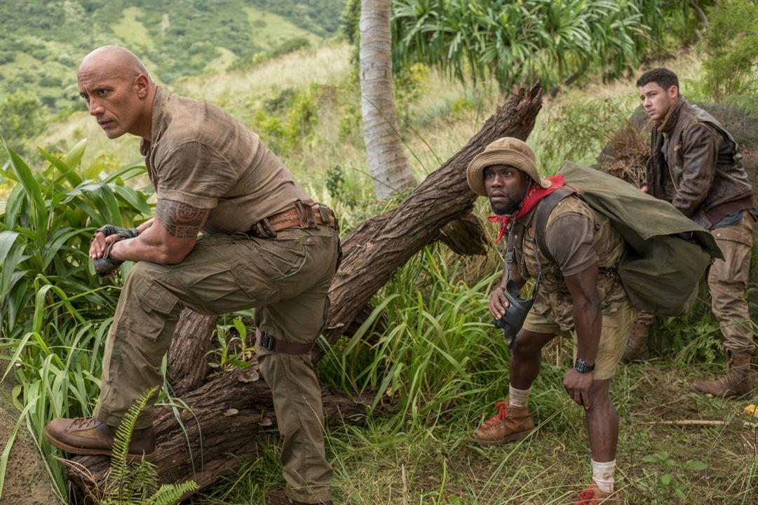 Jumanji: Bem-Vindo à Selva : Foto Dwayne Johnson, Kevin Hart, Nick Jonas