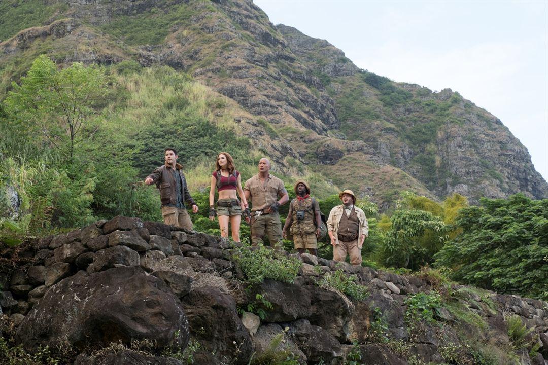Jumanji: Bem-Vindo à Selva : Foto Dwayne Johnson, Jack Black, Karen Gillan, Kevin Hart, Nick Jonas