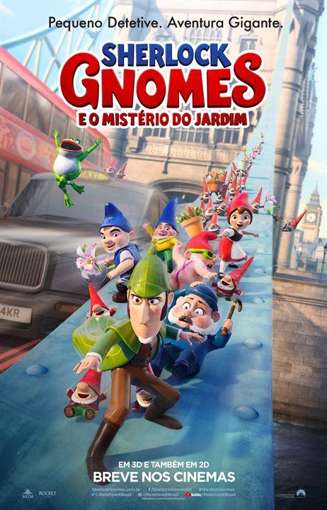 Sherlock Gnomes e o Mistério do Jardim : Poster