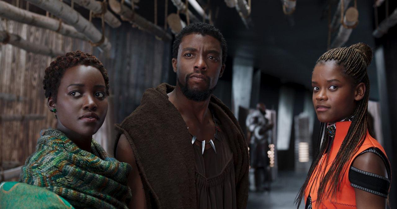 Pantera Negra : Foto Chadwick Boseman, Letitia Wright, Lupita Nyong'o