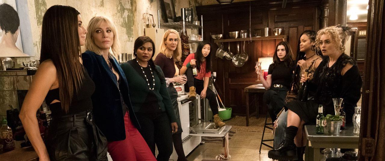 Oito Mulheres e um Segredo : Foto Anne Hathaway, Awkwafina, Cate Blanchett, Helena Bonham Carter, Mindy Kaling