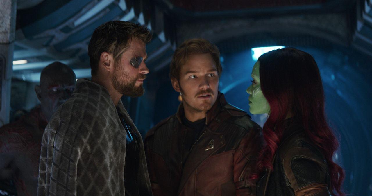 Vingadores: Guerra Infinita : Foto Chris Hemsworth, Chris Pratt, Zoe Saldana
