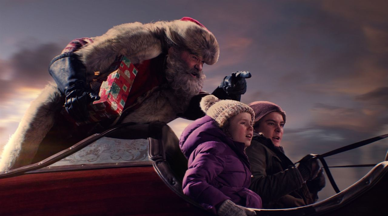Crônicas de Natal : Foto Darby Camp, Judah Lewis, Kurt Russell