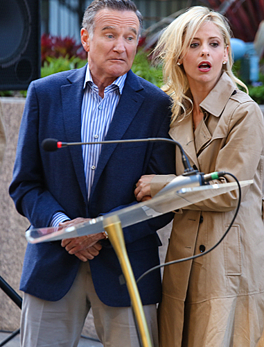 Foto Robin Williams, Sarah Michelle Gellar