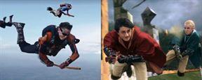 Paraquedistas simulam jogo de Quadribol, de Harry Potter, no ar