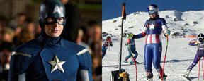 Atletas usam trajes inspirados no Capitão América e na Capitã Marvel nas Olímpiadas de Inverno 2018