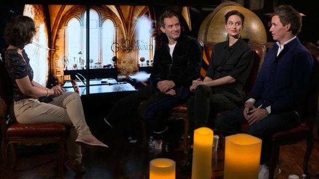 Animais Fantásticos: Os Crimes de Grindelwald Entrevista Exclusiva com Eddie Redmayne, Jude Law e Katherine Waterston