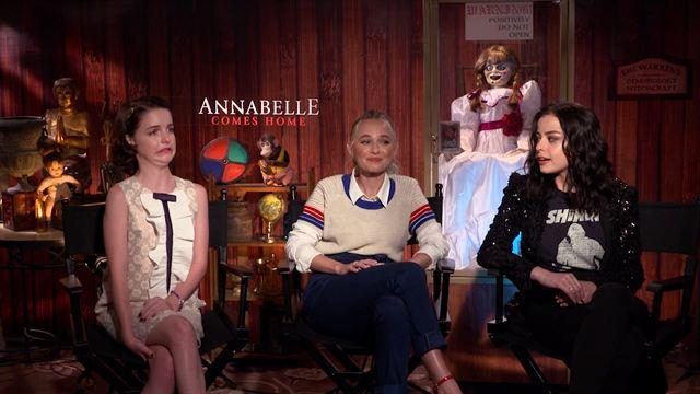 Annabelle 3 Entrevista Mckenna Grace, Katie Sarife, Madison Iseman e Gary Dauberman (Diretor)