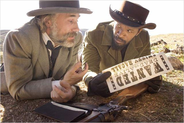 Django Livre : foto Christoph Waltz, Jamie Foxx