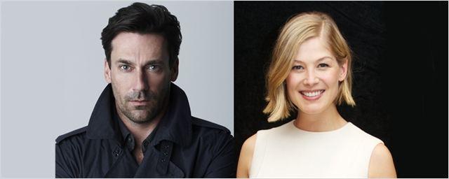 Jon Hamm e Rosamund Pike vão estrelar thriller do diretor de Chamada de Emergência