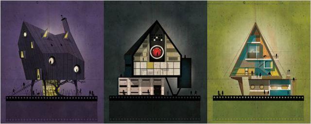 Artista imagina como seriam as casas de grandes diretores