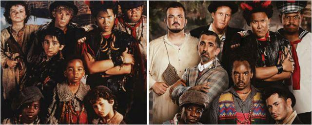 Meninos Perdidos de Hook - A Volta do Capitão Gancho reproduzem cenas do filme 25 anos depois