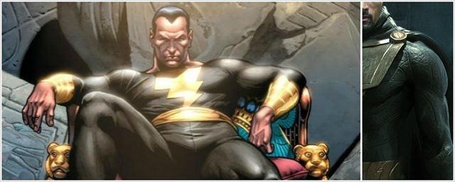 Ilustrador mostra como Dwayne Johnson ficaria como Adão Negro em Shazam
