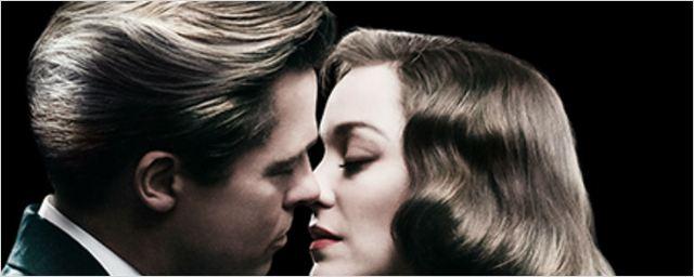 Brad Pitt e Marion Cotillard são inimigos bem próximos no cartaz de Aliados