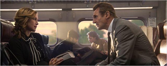 Vera Farmiga desafia Liam Neeson no trailer de The Commuter, novo filme do diretor de Águas Rasas