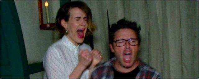 Sarah Paulson leva susto em casa temática de American Horror Story no Halloween Horror Nights