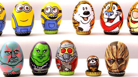 Personagens da cultura pop viram Ovos de Páscoa decorados