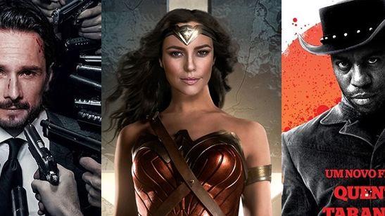 E se a Paolla Oliveira fosse a Mulher-Maravilha? Artista recria cartazes de Hollywood com atores brasileiros