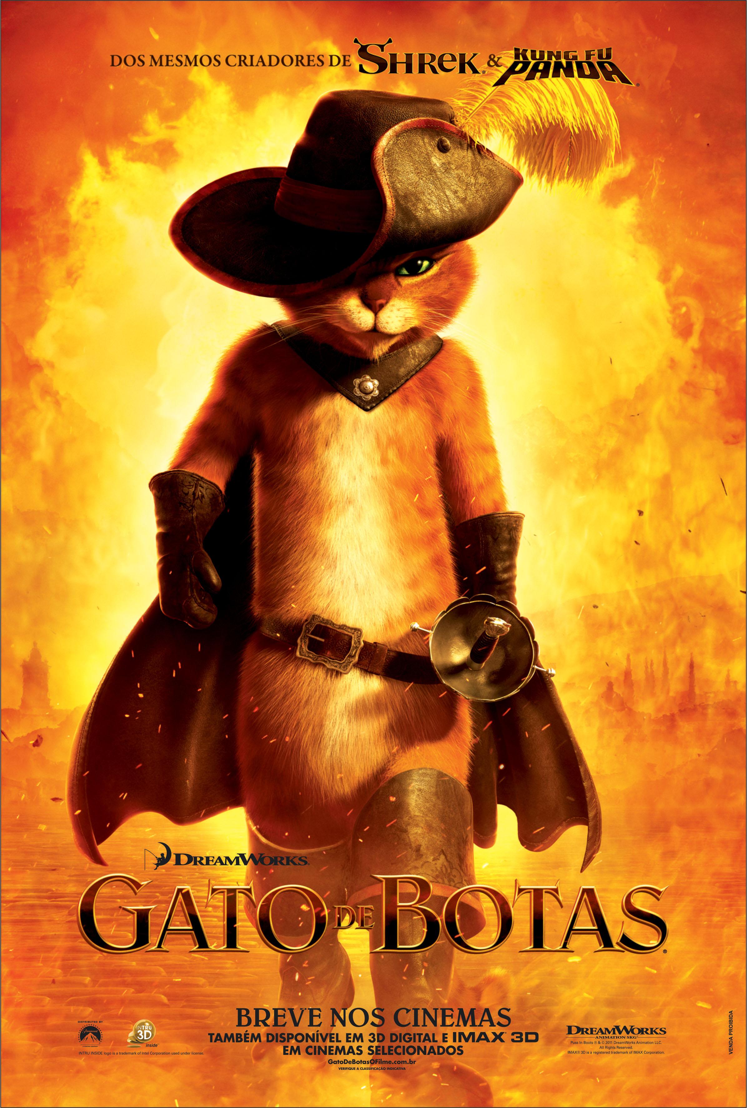 Gato De Botas Filme 2011 Adorocinema