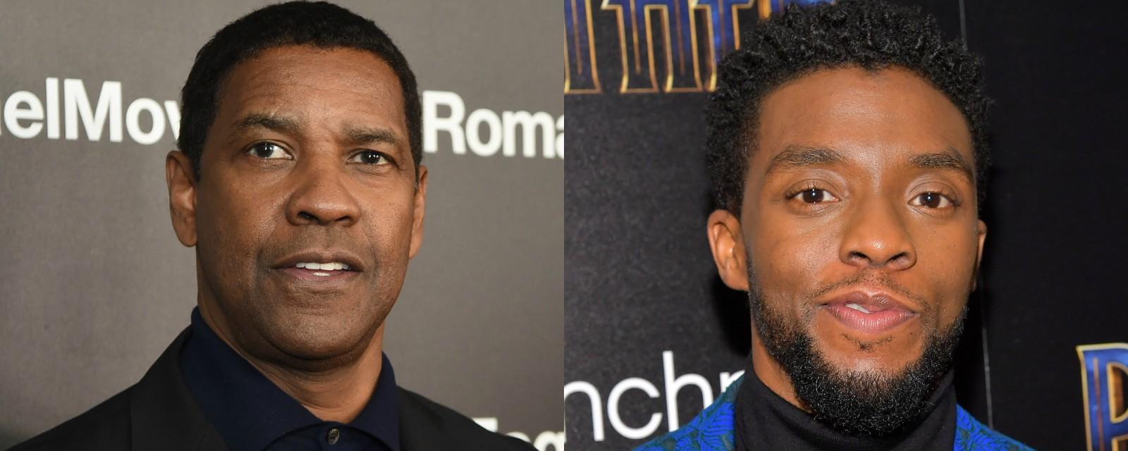 Denzel Washington ajudou a pagar os estudos de Chadwick Boseman - Notícias  de cinema - AdoroCinema